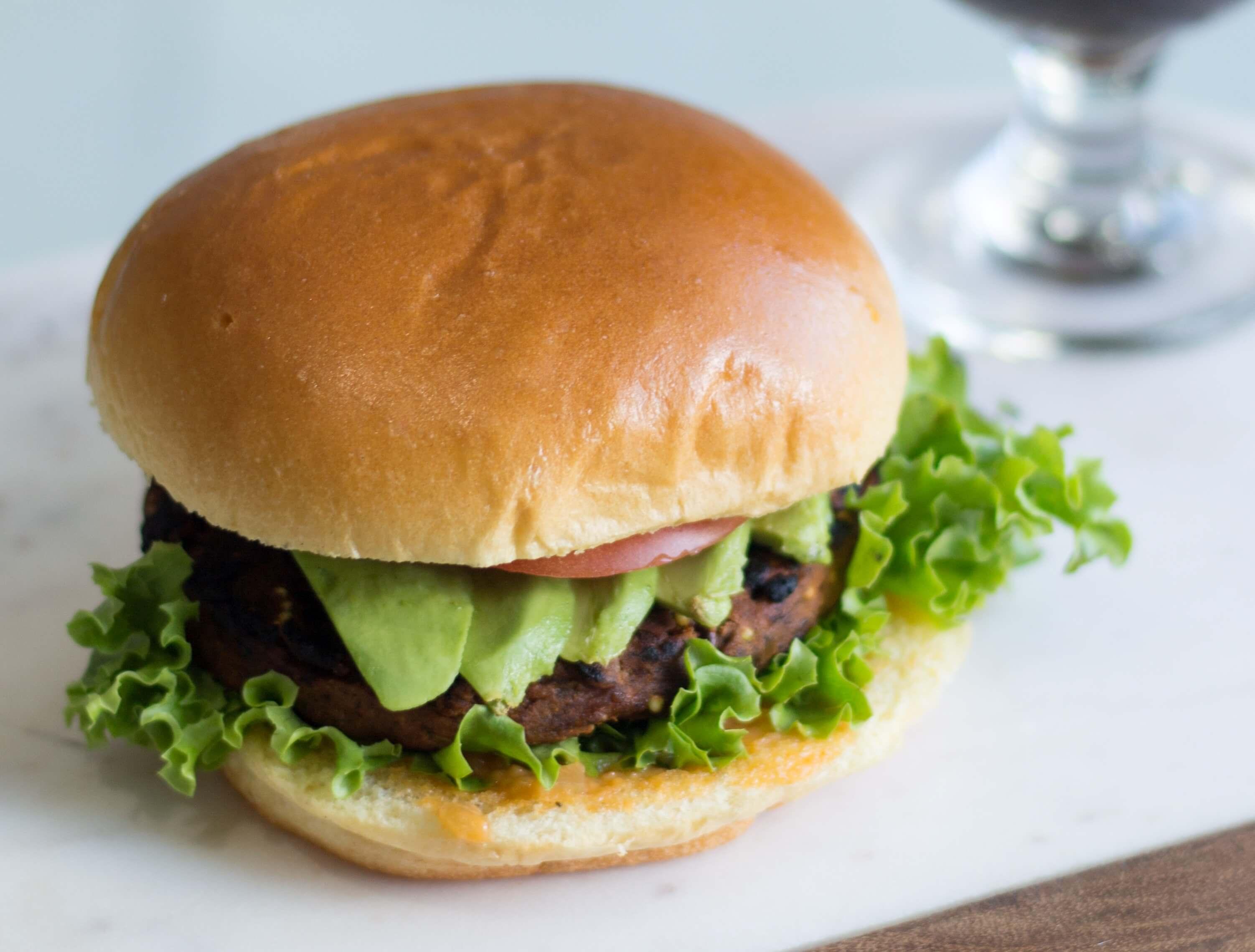 Black-Bean-and-Greens-Burger