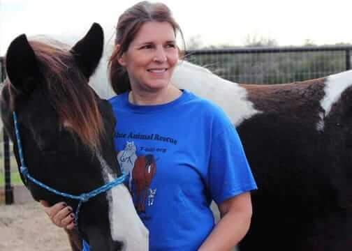 True Blue Animal Rescue President, Melanie DeAeth
