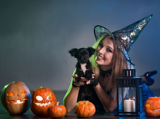 adorable-dog-and-witch
