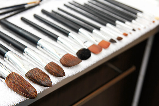 Makeup Brushes Dry After Washing Them